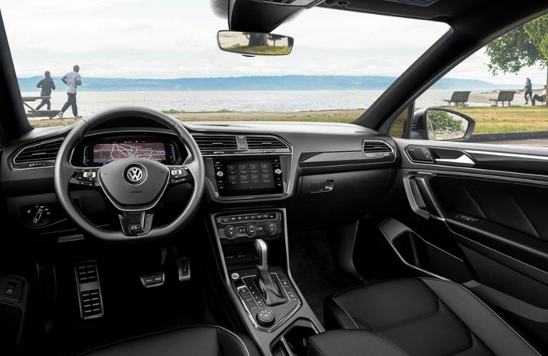 dashboard view of the 2022 VW Tiguan