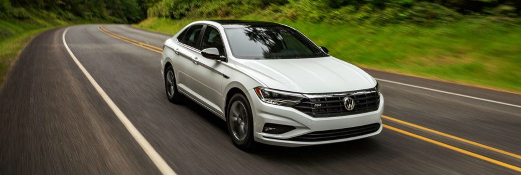 2020 VW Jetta on the road