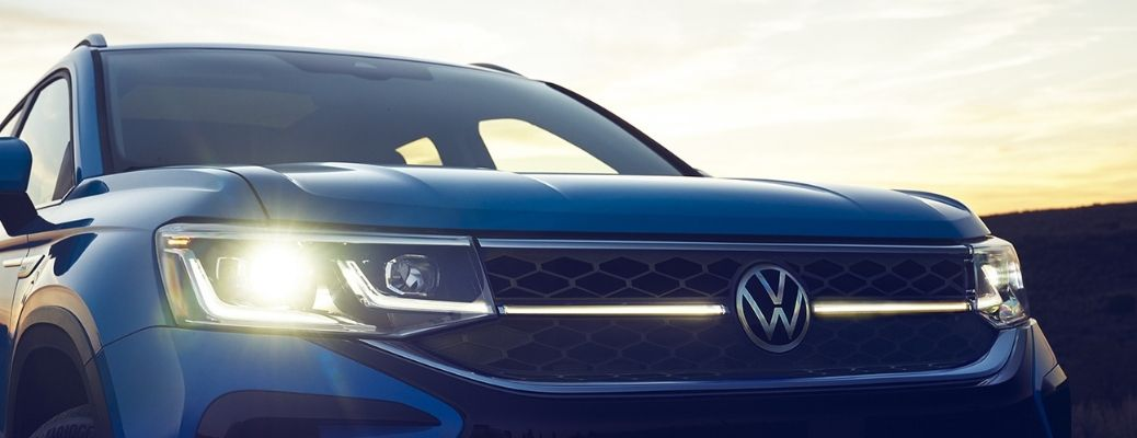 headlight view of the 2022 VW Taos