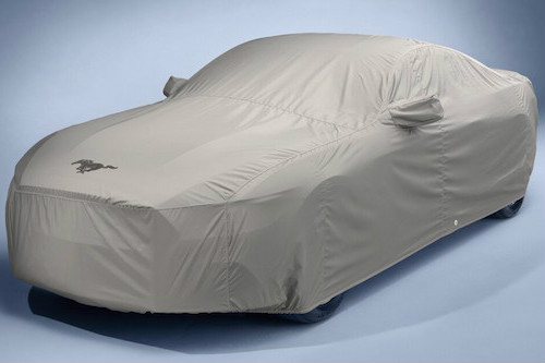 Car with covering on it
