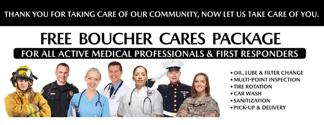 What is the Boucher Cares Package Available at the Boucher Automotive Group?