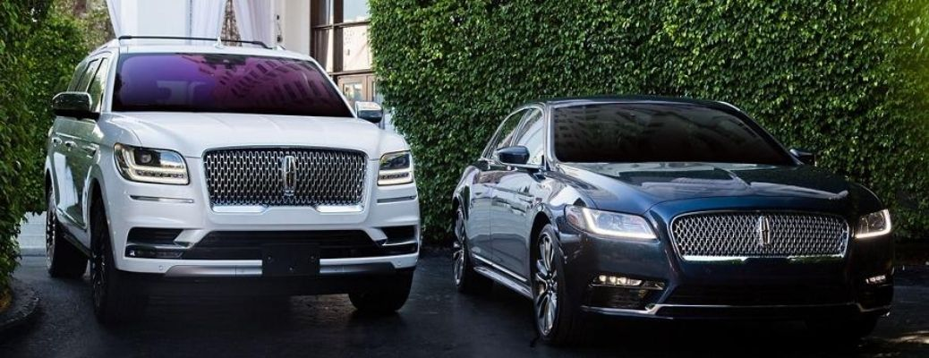 Exterior view of two 2020 Lincoln models
