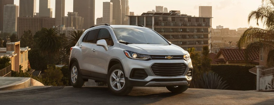 2021 Chevrolet Trax parked on city road
