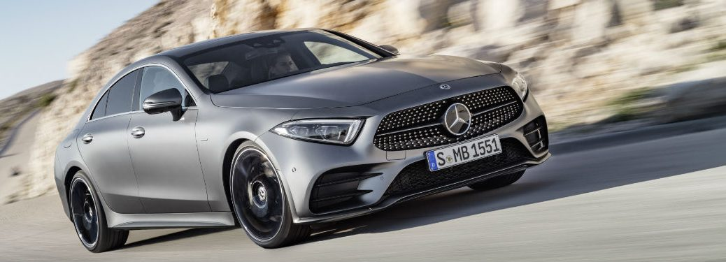 2019 CLS Coupe in Silver - Front View
