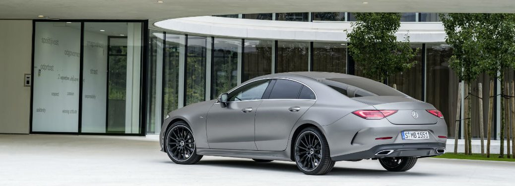 2019 CLS Coupe in Silver Side Rear View