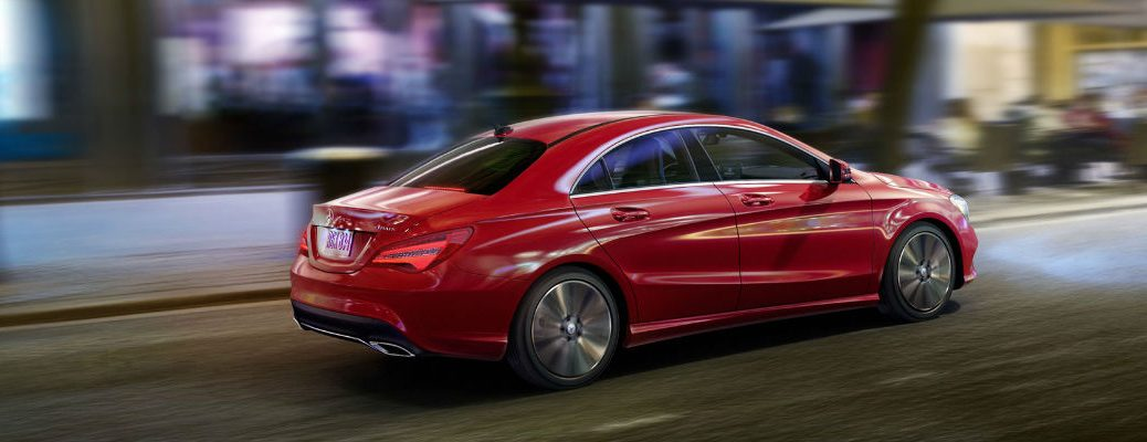 2018 CLA Coupe in Red - Side View