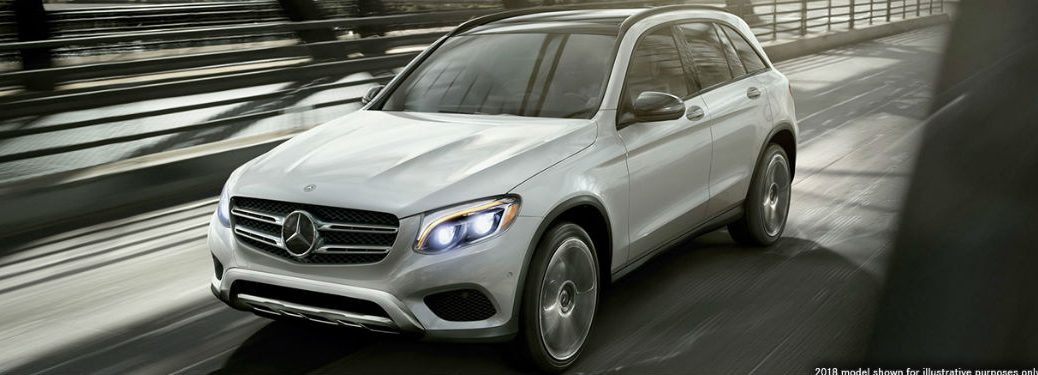 2019 MB GLC exterior front fascia and drivers side going fast on road