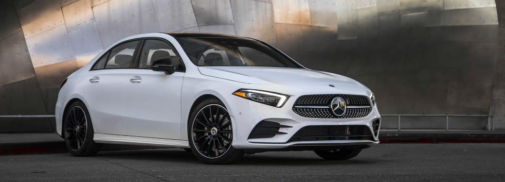 2019 MB A-Class exterior front fascia and passenger side