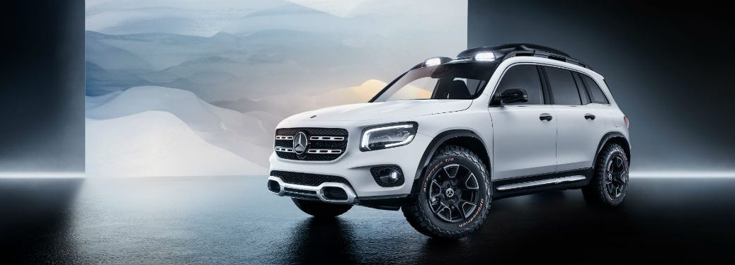 Mercedes-Benz GLB Concept vehicle exterior front fascia and drivers side