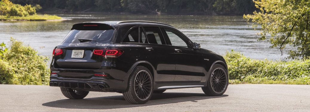 2020 MB GLC exterior back fascia and passenger side in front of lake