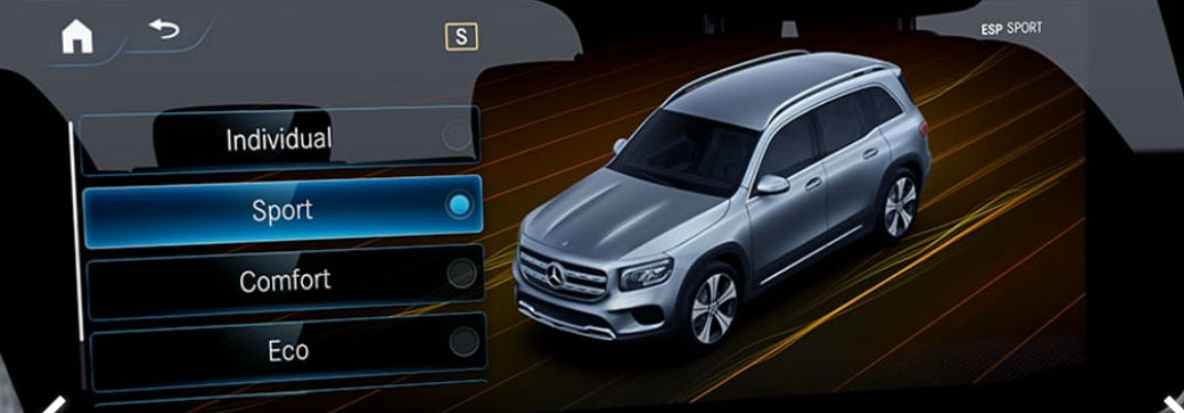 Which 2020 Mercedes-Benz vehicles have DYNAMIC SELECT® standard?