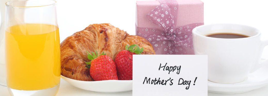 Mothers Day Breakfast with small gift and coffee