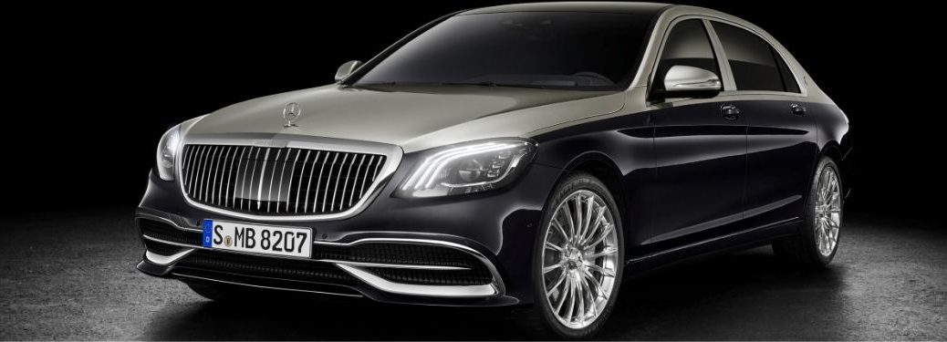 2018 MB Maybach S-Class exterior front fascia driver side in gray and black room