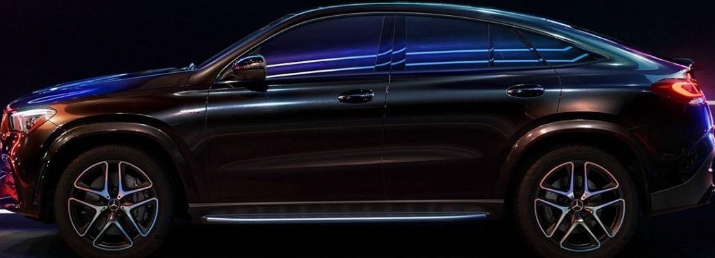 2021 MB GLE Coupe exterior driver side on black background