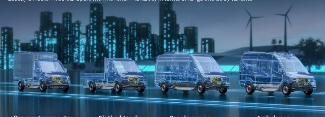 Lineup of the MB eSprinter body options