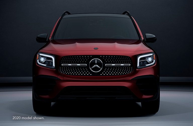 2021 Mercedes-Benz GLB front view in red