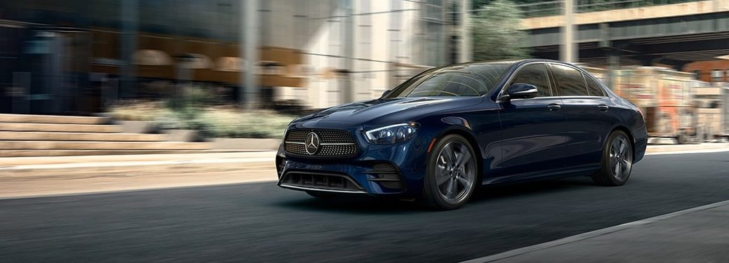 2021 E-Class driving on road