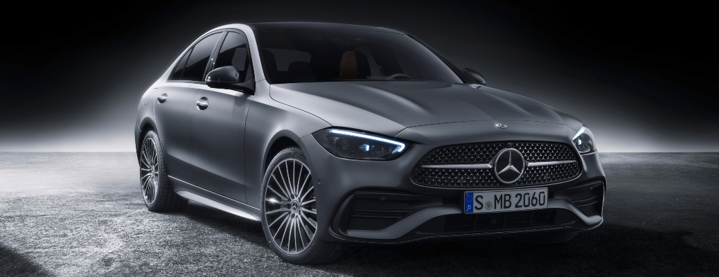 2022 Mercedes-Benz C-Class gray front side view