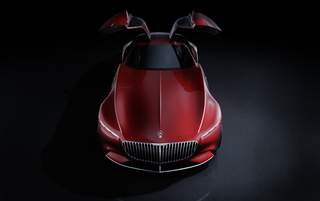 Vision Mercedes-Maybach 6 Open Gullwing Doors_o