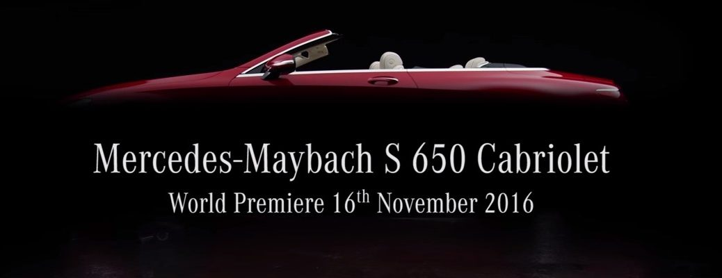 Where To Watch 2018 Mercedes-Maybach S650 Cabriolet Release