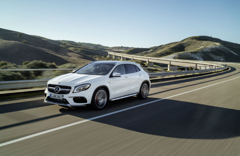 What is included in the Mercedes-Benz GLA Night Package?