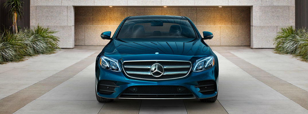 What kind of driver-assist features are equipped on the 2017 E-Class sedan?