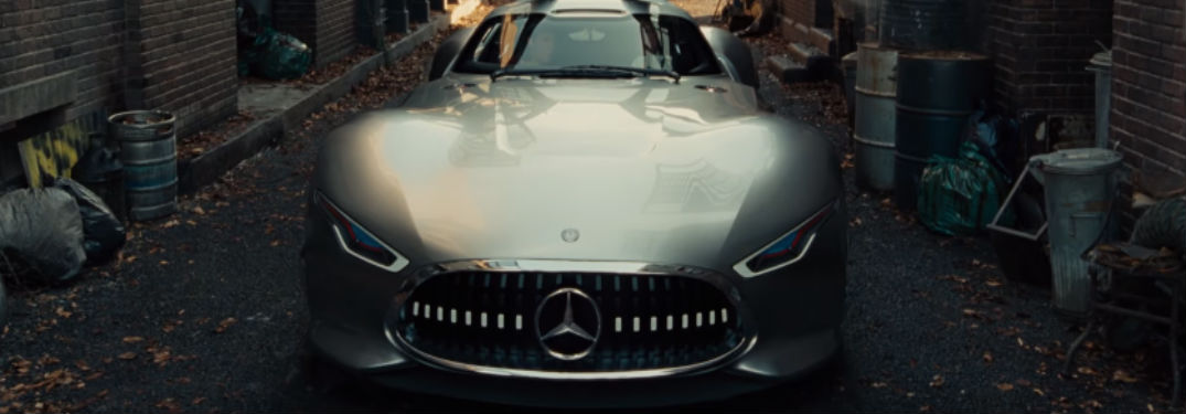 What Mercedes-Benz models are in the new Justice League x commercial?