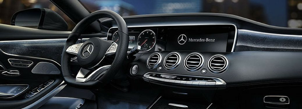 mercedes-benz s-class leather interior and infotainment system