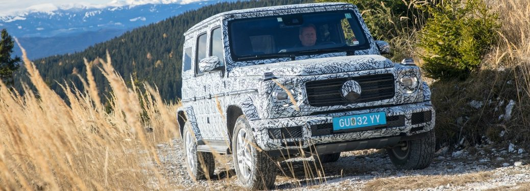 mercedes-benz g-class wagon off-road driving