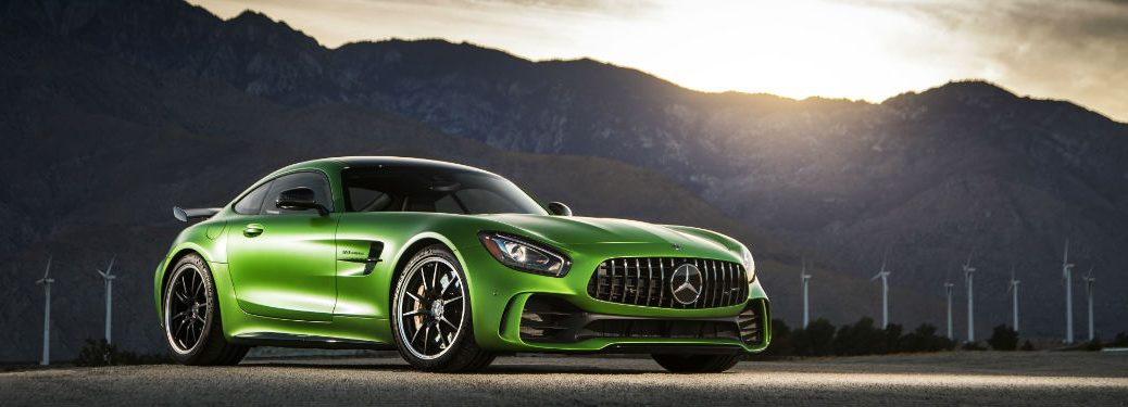 2018 AMG® GT Coupe in Green Side Front View