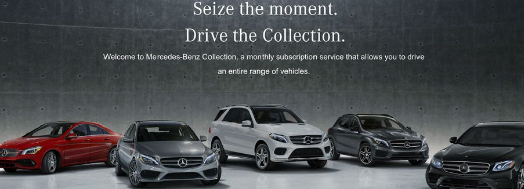 The Mercedes-Benz Collection main page with Mercedes-Benz models