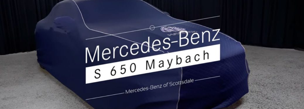 Mercedes-Maybach under a cloak