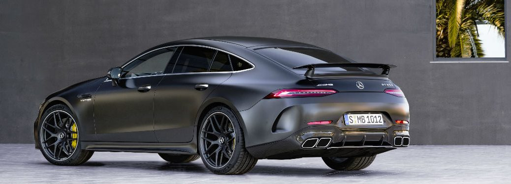 2019 mercedes-amg gt coupe rear view
