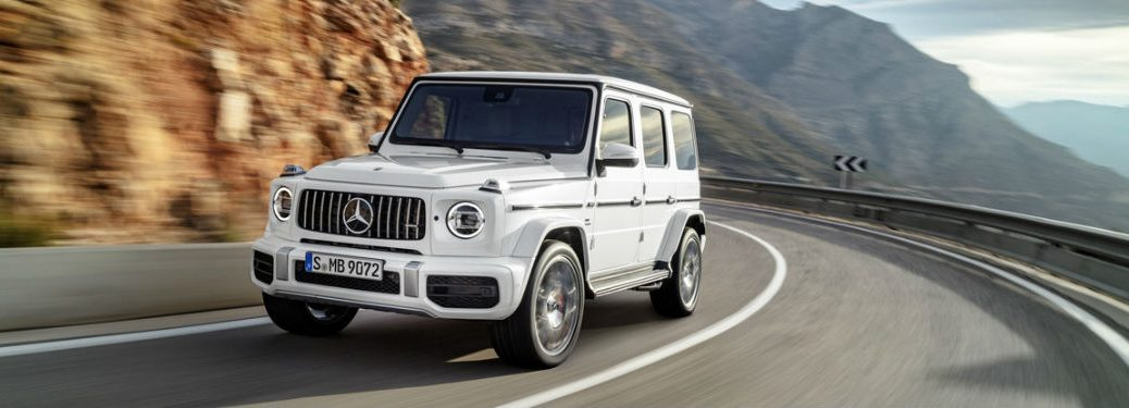 2019 Mercedes-AMG G 63 in White - Front View