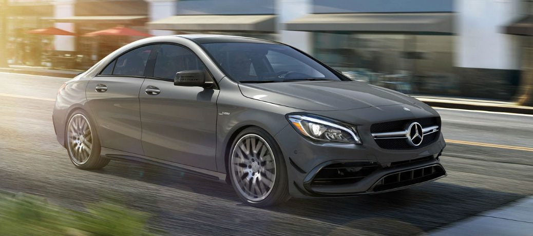 2018 AMG CLA 45 Coupe in Silver - Front/Side View