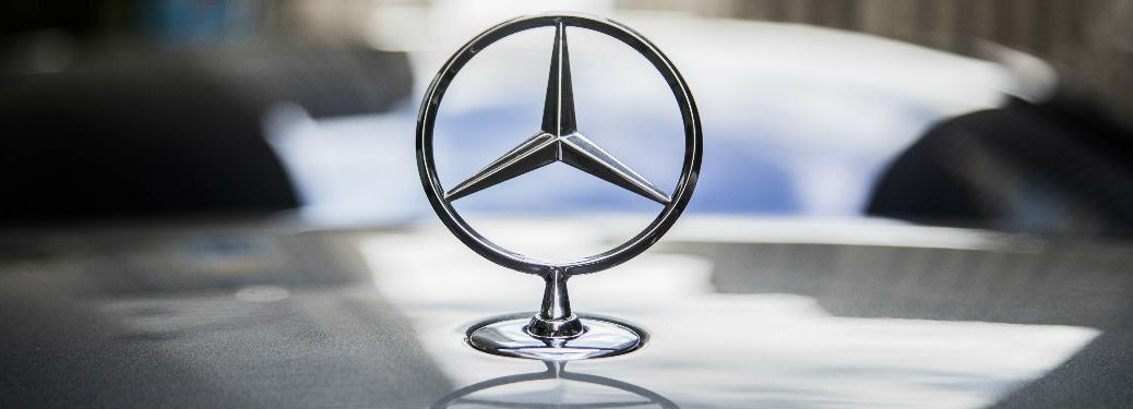 Mercedes-Benz Star on the hood of a car