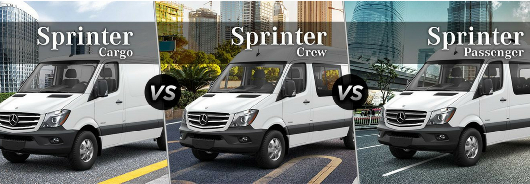 What are the differences between Sprinter Cargo, Crew and Passenger Vans?