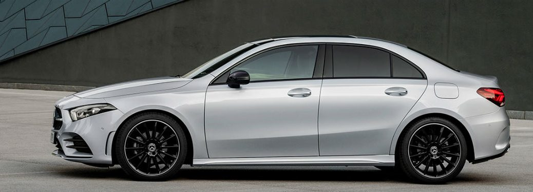2019 MB A-Class Sedan exterior drivers side profile