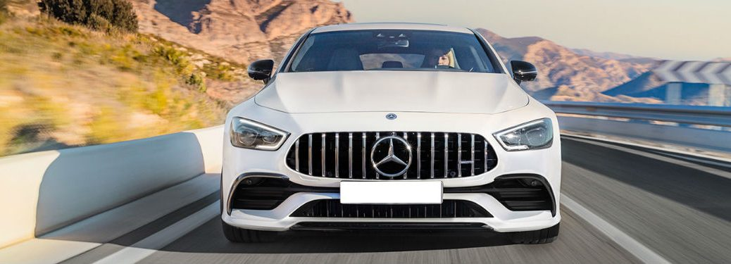 2019 MB AMG GT exterior front fascia going fast on blurred road