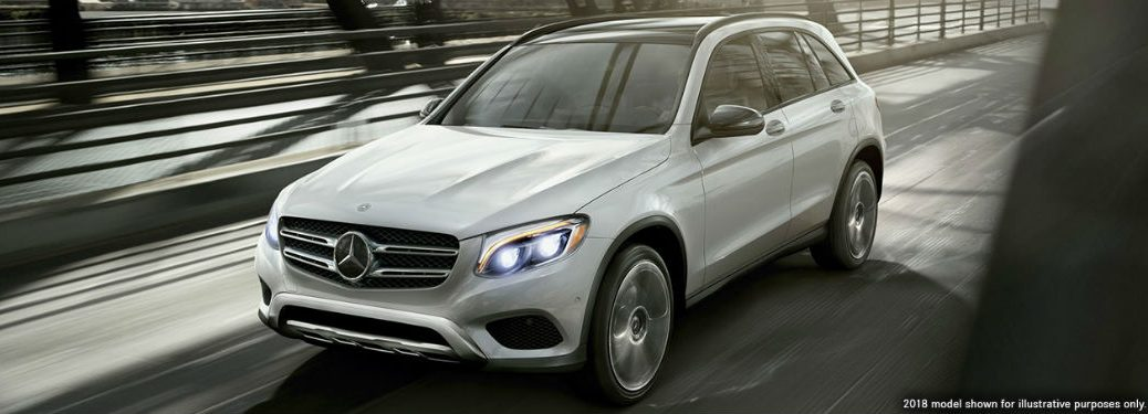 2019 MB GLC exterior front fascia and drivers side on blurred bridge