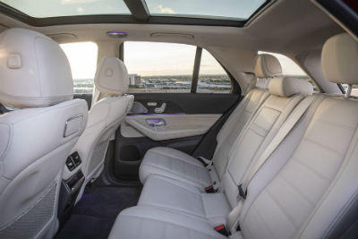 2020 MB GLE interior rear cabin