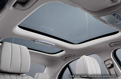 2019 MB E-Class looking up at sunroof