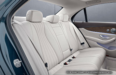 2019 MB E-Class interior side view of back seats