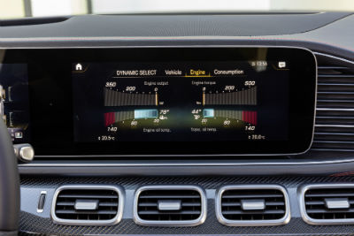 2021 MB AMG GLE 53 interior close up of touchscreen display