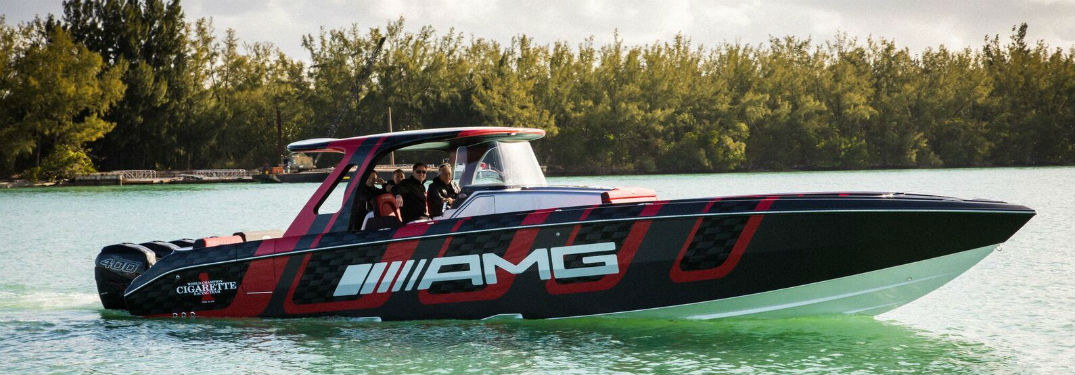 The 41' AMG® Carbon Edition boat made waves at the Miami International Boat Show