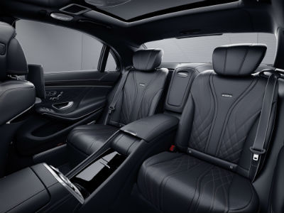 2020 MB AMG S 65 exterior back- view of seats