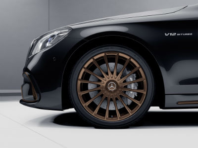 2020 MB AMG S 65 exterior close up of driver side wheel