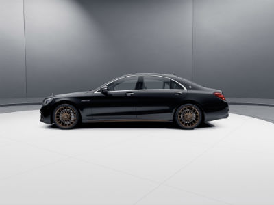 2020 MB AMG S 65 exterior driver side profile in gray room