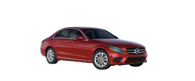 2019 MB C-Class front fascia and drivers side designo Cardinal Red Metallic