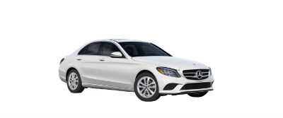 2019 MB C-Class front fascia and drivers side designo Diamond White Metallic